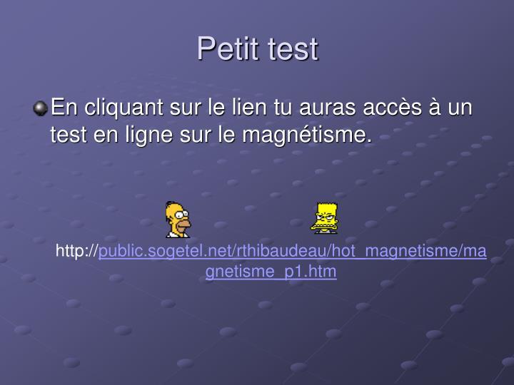 Petit test