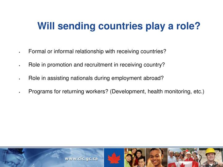 Will sending countries play a role?