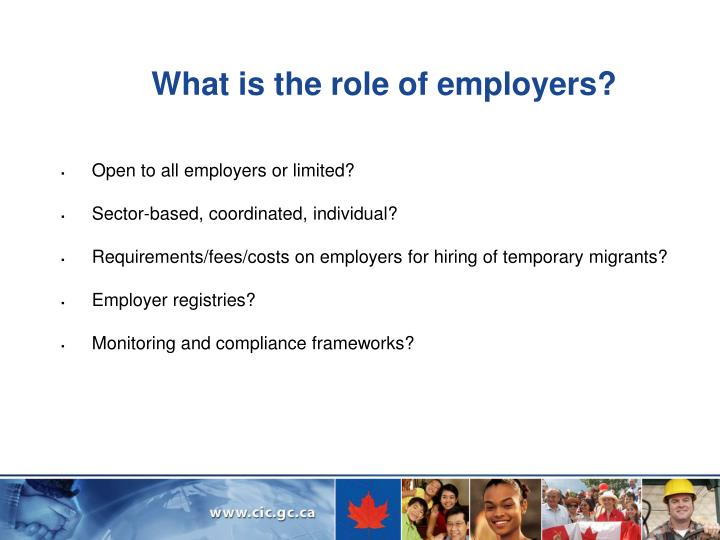 What is the role of employers?