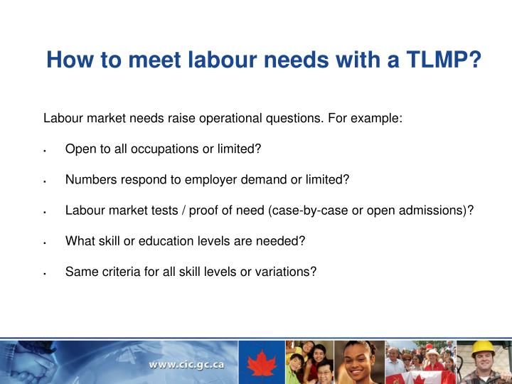 How to meet labour needs with a TLMP?