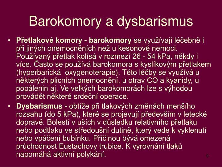 Barokomory a dysbarismus