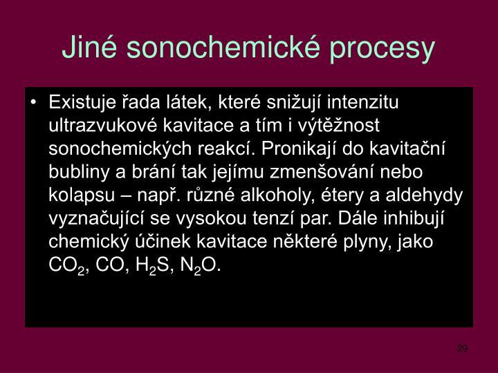 Jiné sonochemické procesy