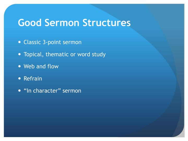 Good Sermon Structures