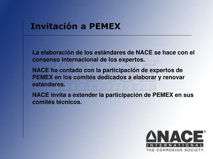 Invitación a PEMEX