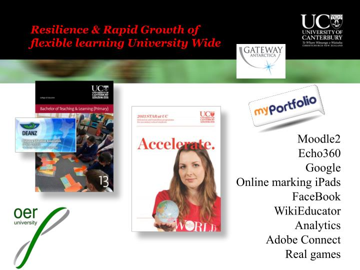 Resilience & Rapid Growth of flexible learning University Wide