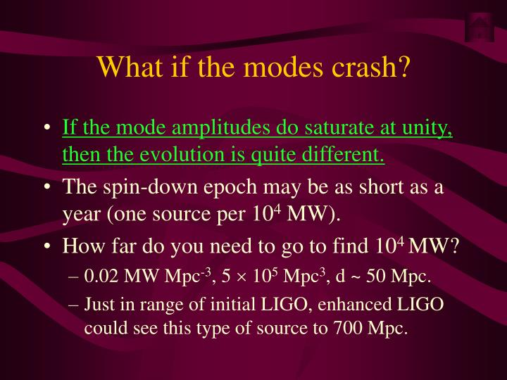 What if the modes crash?