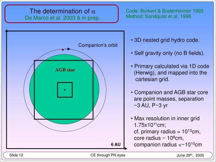 Companion's orbit