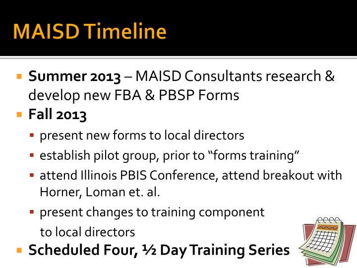MAISD Timeline