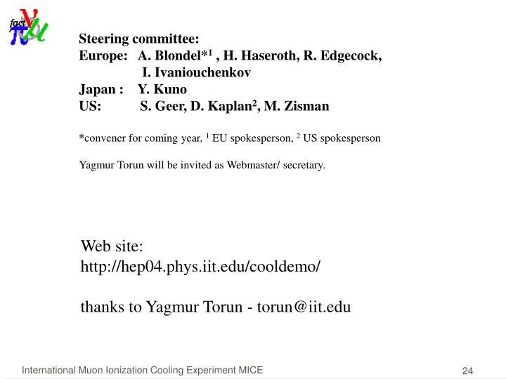 Steering committee: