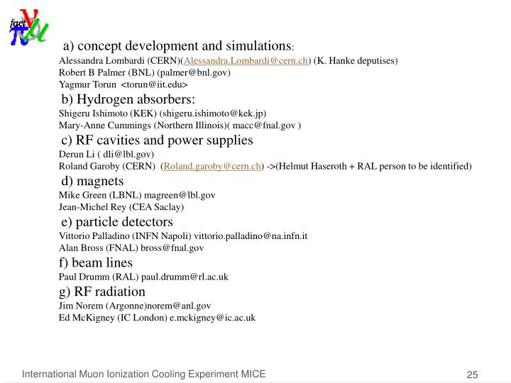 a) concept development and simulations