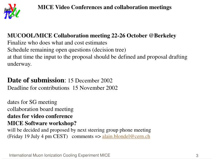 MICE Video Conferences and collaboration meetings