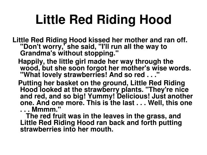 Little red riding hood1