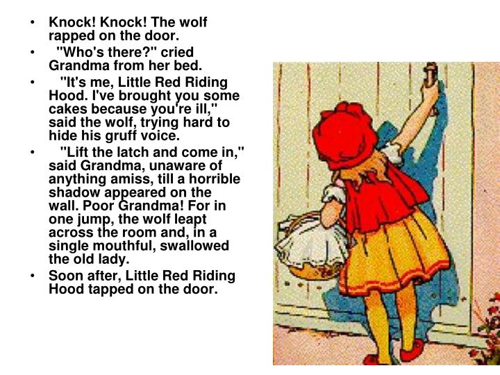 Knock! Knock! The wolf