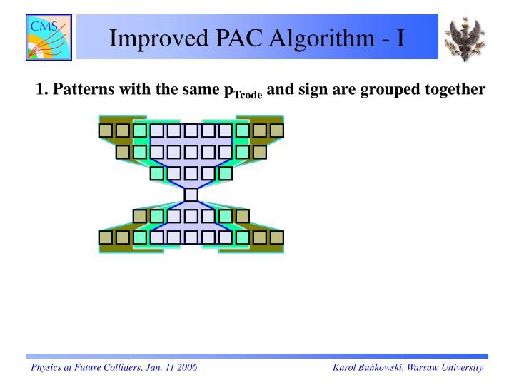 Improved PAC Algorithm - I