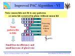 improved pac algorithm vi