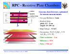 rpc r esistive p late c hambers