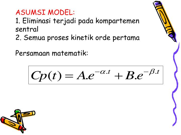 ASUMSI MODEL: