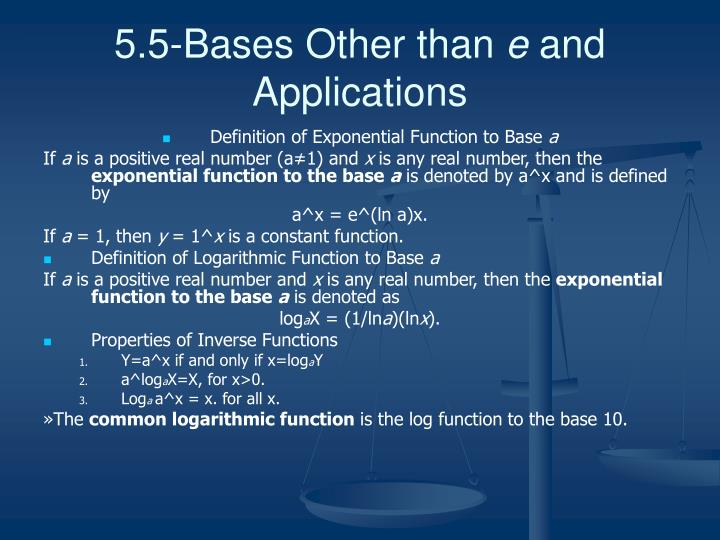 5.5-Bases Other than