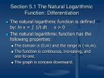 section 5 1 the natural logarithmic function differentiation