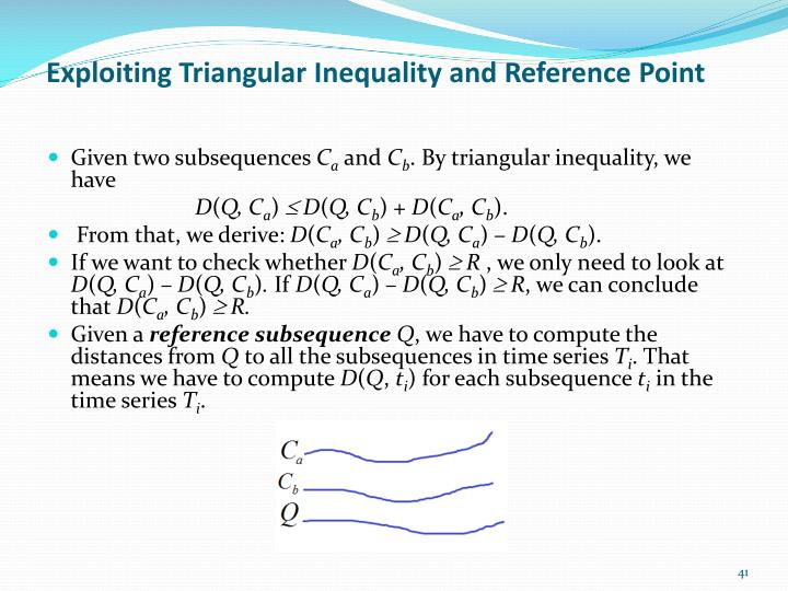 Exploiting Triangular Inequality and Reference Point