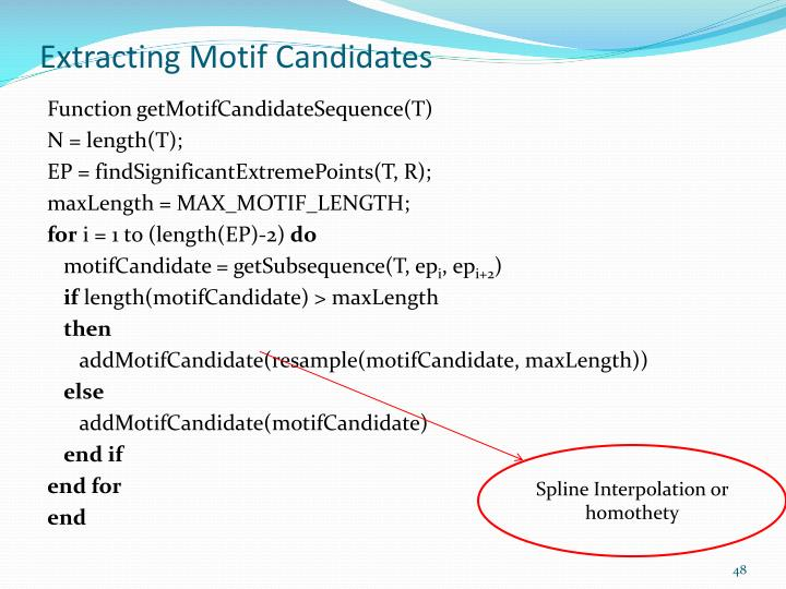 Extracting Motif Candidates