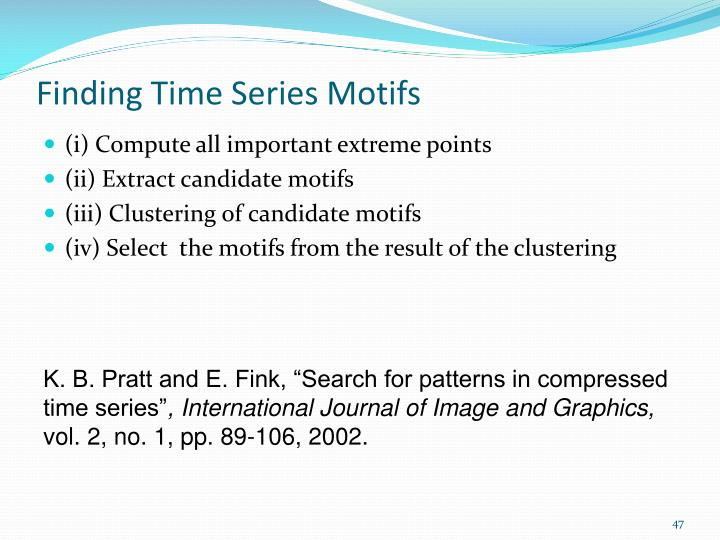 Finding Time Series Motifs