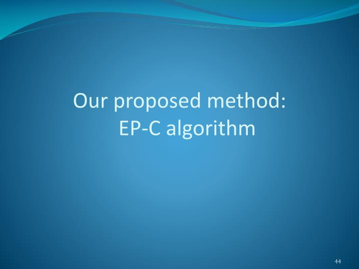 Our proposed method:
