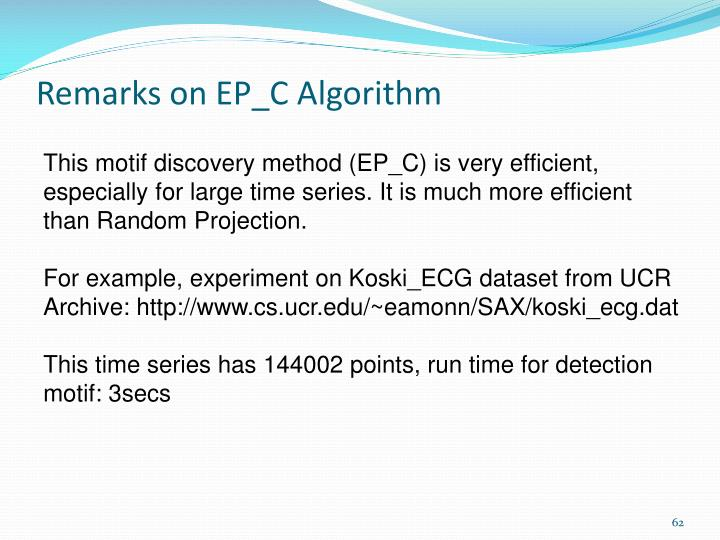 Remarks on EP_C Algorithm