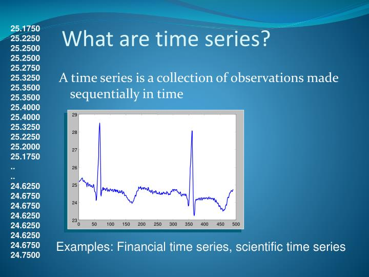 What are time series?
