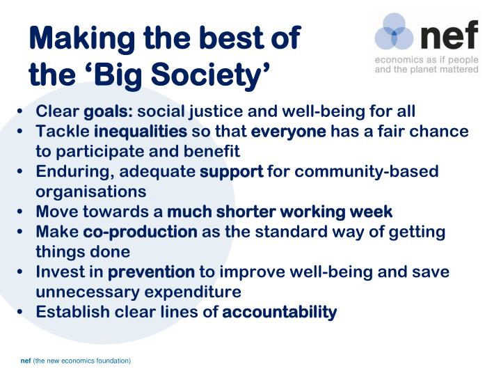Making the best of the 'Big Society'