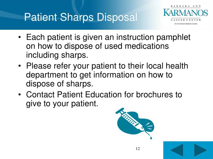 Patient Sharps Disposal