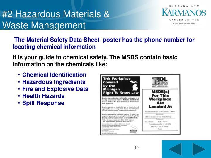 #2 Hazardous Materials &