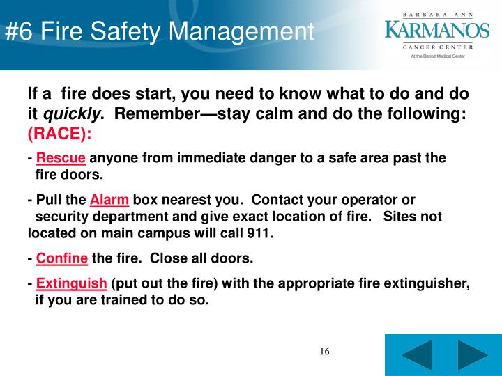 #6 Fire Safety Management