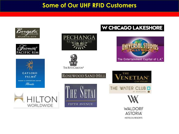 Some of Our UHF RFID Customers