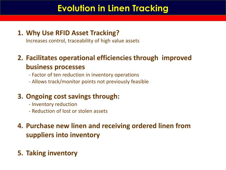 Evolution in Linen Tracking