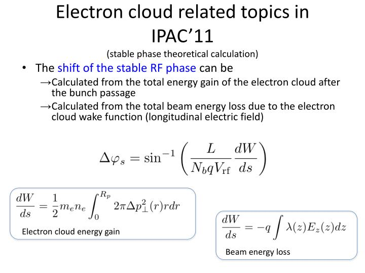 Electron cloud related topics