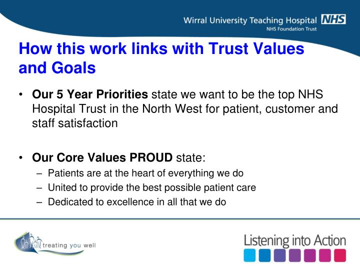 How this work links with Trust Values and Goals