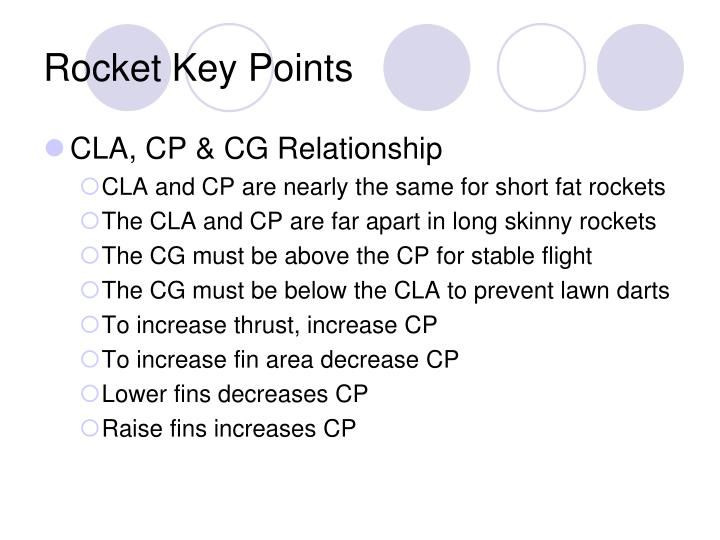 Rocket Key Points