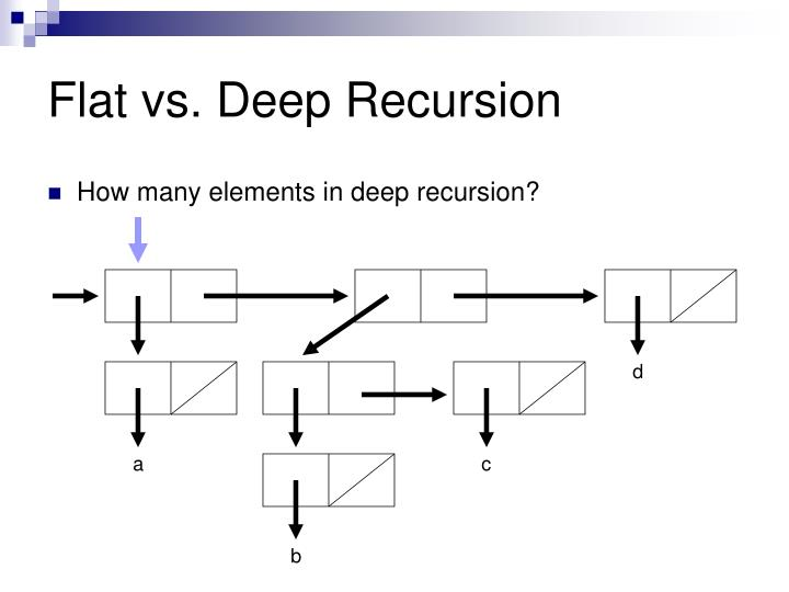 Flat vs. Deep Recursion