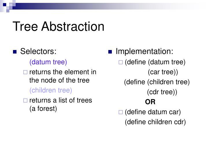 Selectors: