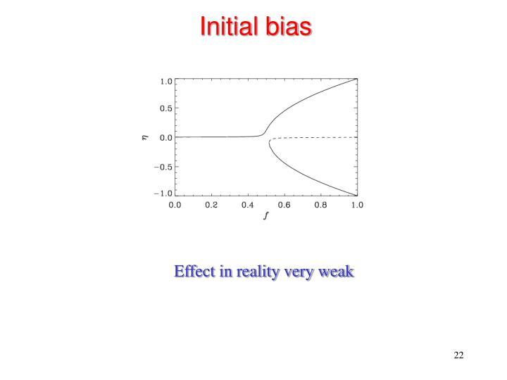 Initial bias