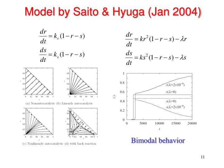 Model by Saito & Hyuga (Jan 2004)