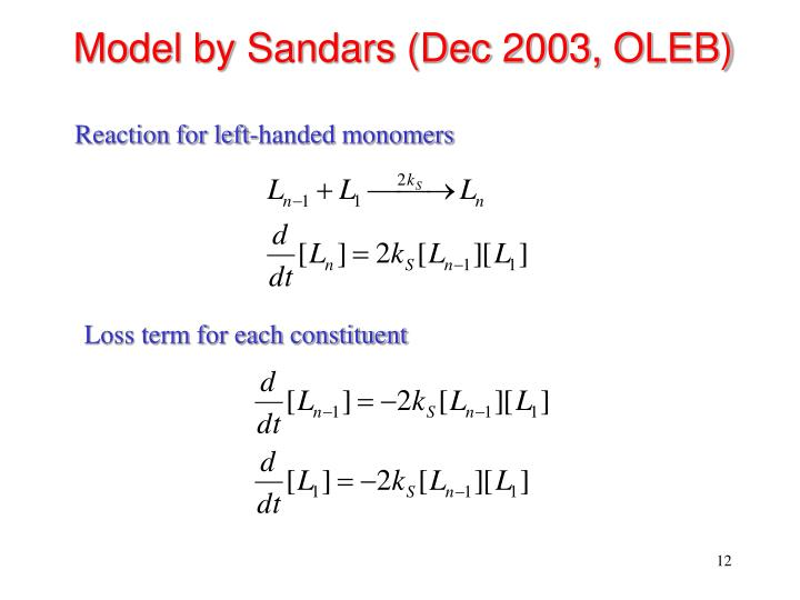 Model by Sandars (Dec 2003, OLEB)