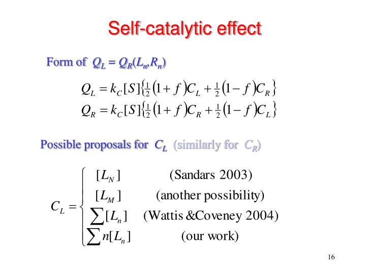 Self-catalytic effect