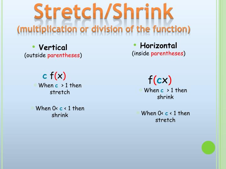 Stretch/Shrink