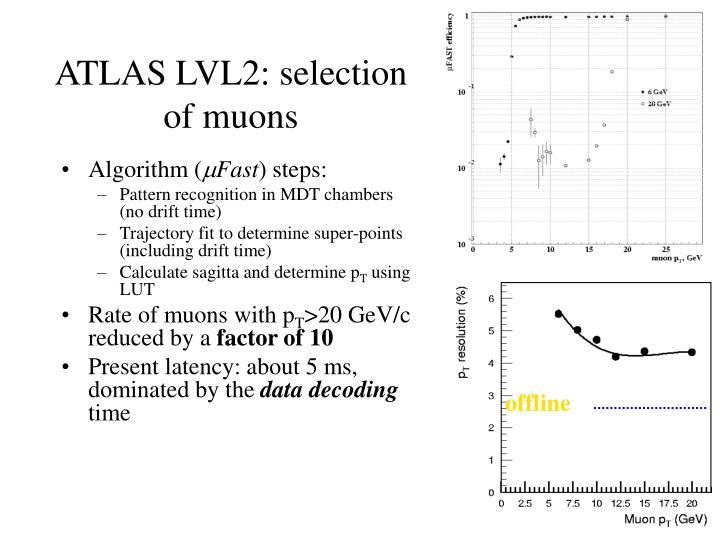 ATLAS LVL2: selection