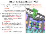 atlas the region of interest why