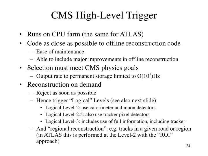 CMS High-Level Trigger