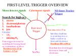 first level trigger overview