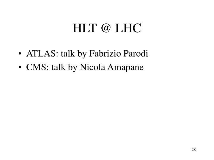 HLT @ LHC